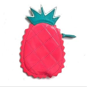 Coach Leather Pineapple Coin Purse